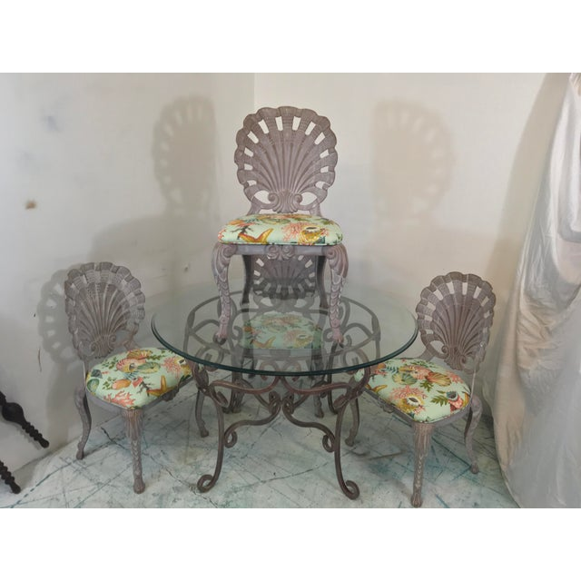 1970s Grotto Style Patio Dining Set W/ 4 Chairs Att. Brown Jordan For Sale - Image 5 of 5