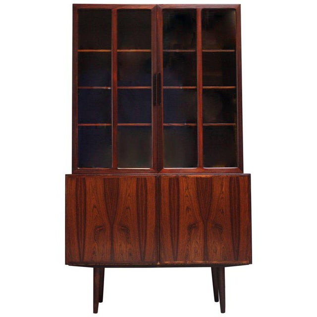 Danish Rosewood Two-Piece Bookcase by Gunni Omann - Image 8 of 8