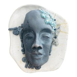 Vintage Face Mask Sculpture For Sale
