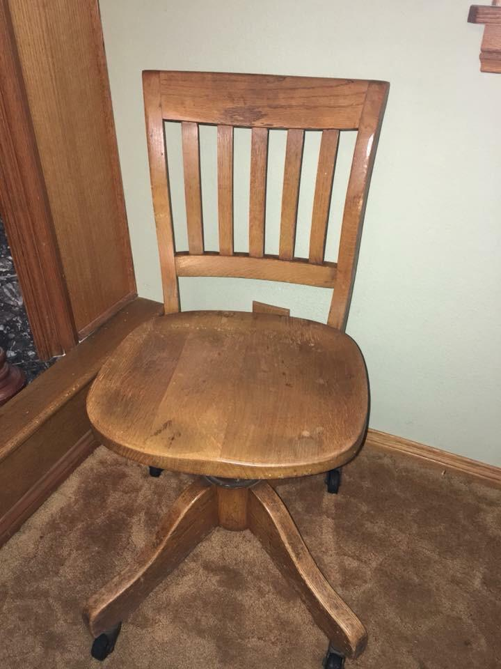 This Vintage Oak Swivel Desk Chair Was Made By The High Point Bending And  Chair Company