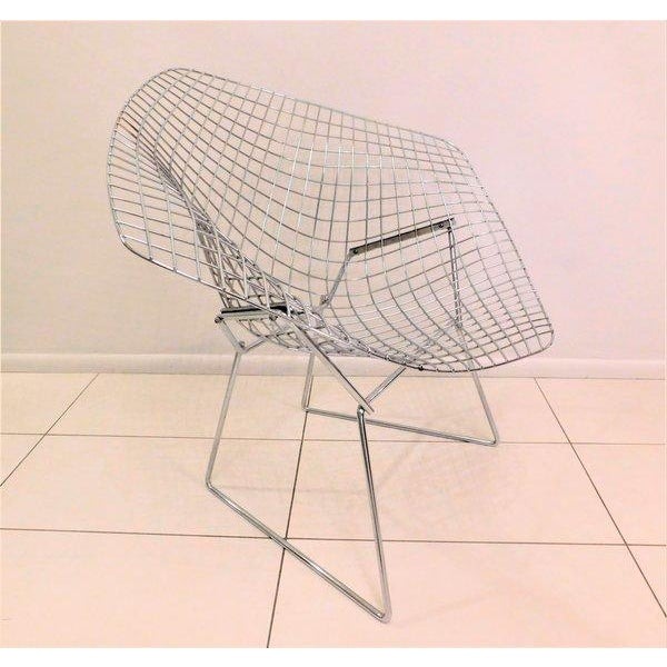Original Bertoia Diamond Wire Chair in Chrome by Knoll - Image 3 of 9