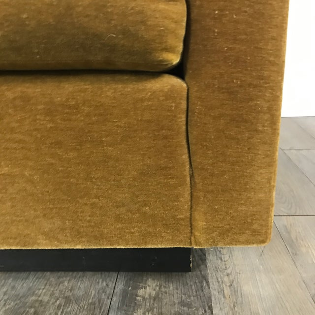 Vintage Gold Mohair Sofa - Image 7 of 11