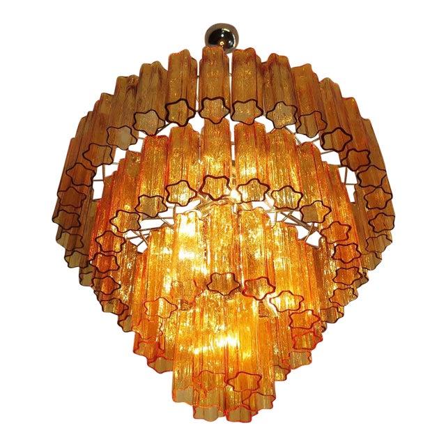 Amber venini chandelier chairish amber venini chandelier image 1 of 3 aloadofball Image collections