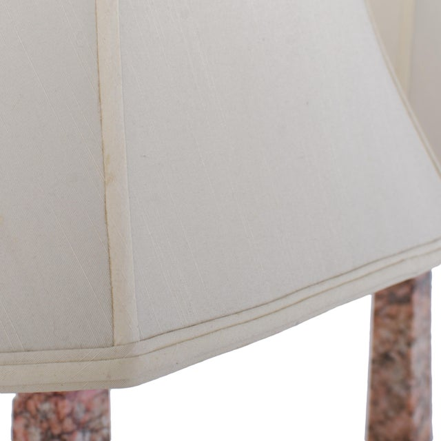 Marble Column Lamps - a Pair For Sale - Image 10 of 11