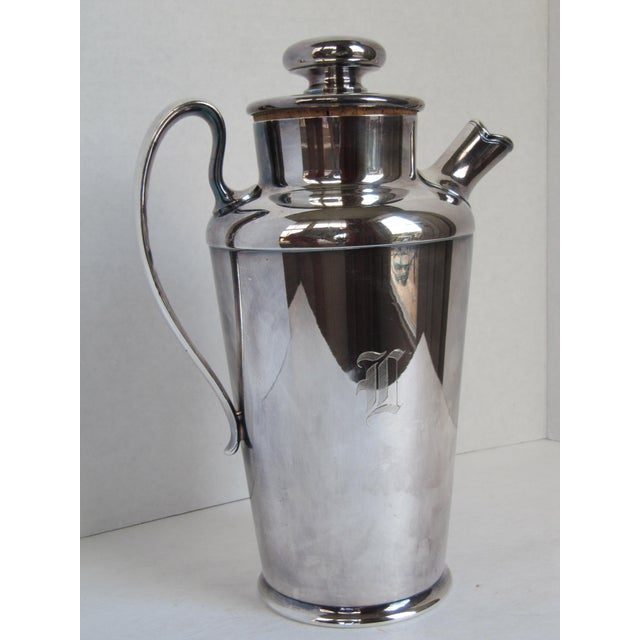 """Art Deco Drink Pitcher with Initial """"D"""" For Sale - Image 6 of 11"""