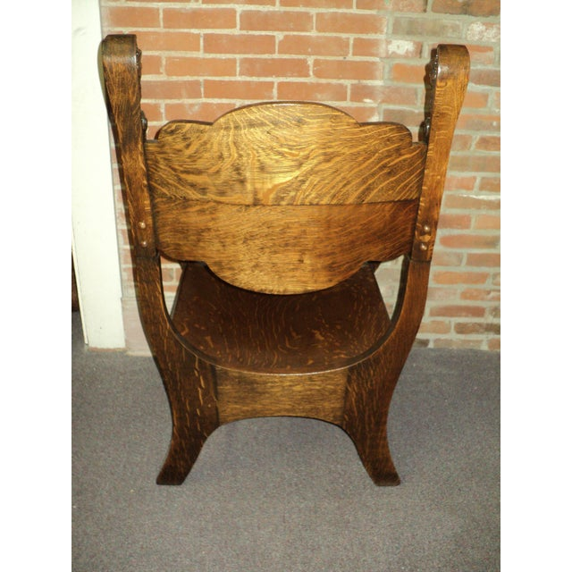 Antique Carved North Wind Face & Lion's Heads Oak Throne Chair For Sale -  Image 4 - Antique Carved North Wind Face & Lion's Heads Oak Throne Chair