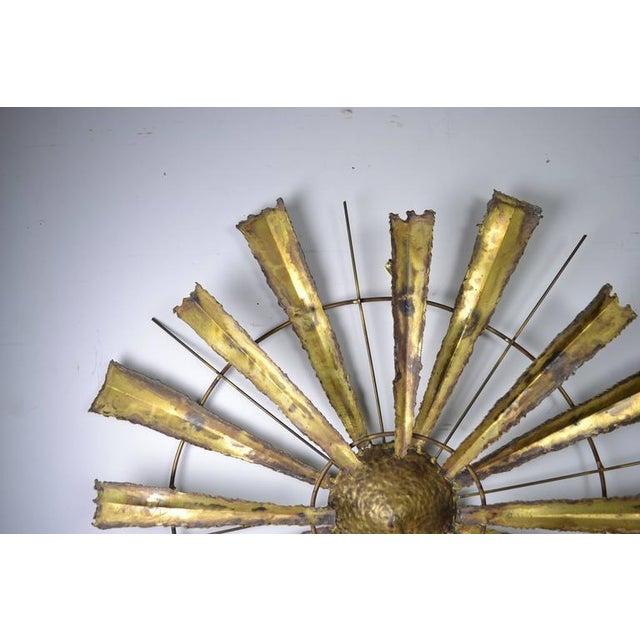 Torch Cut Brutalist Sunburst, circa 1970s For Sale - Image 4 of 7