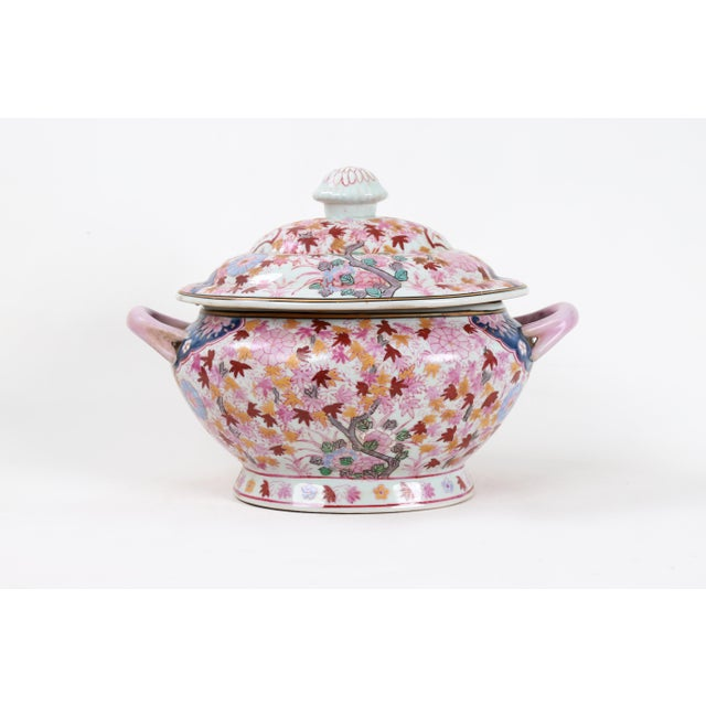 Ceramic Vintage Famille Rose Tureen With Lid For Sale - Image 7 of 7