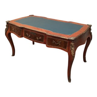 Large French Bronze Mounted Writing Desk For Sale