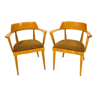 Heywood Wakefield M549 Captains Chairs - a Pair For Sale