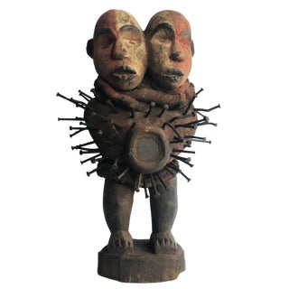 """African Nkisi Fetish Power Figure Dr of Congo 19"""" H For Sale"""
