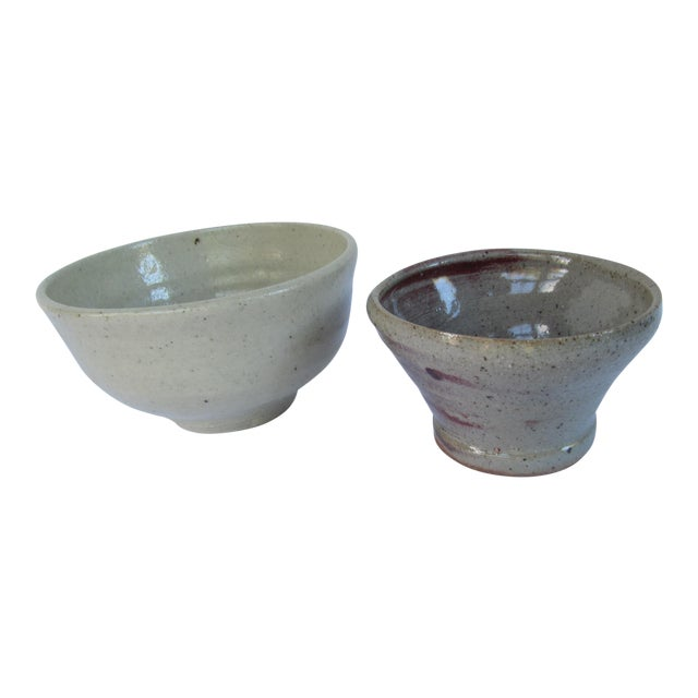 Handmade Pottery Serving Bowls-2 Pieces - Image 1 of 4
