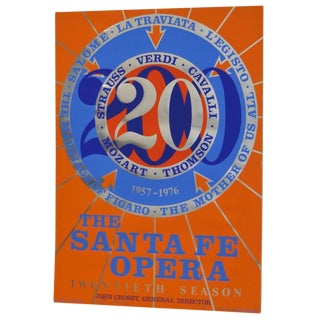 1976 Robert Indiana Signed Santa Fe Opera Lithograph For Sale
