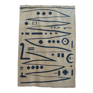 Paul Klee - Heroic Strokes of the Bow - Inspired Silk Hand Woven Area - Wall Rug 4′3″ × 5′11″
