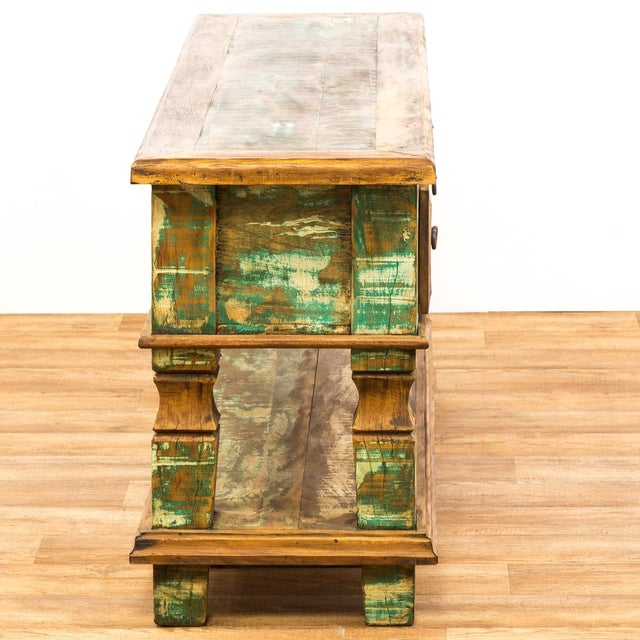 Reclaimed Wood Console Table For Sale In Los Angeles - Image 6 of 8