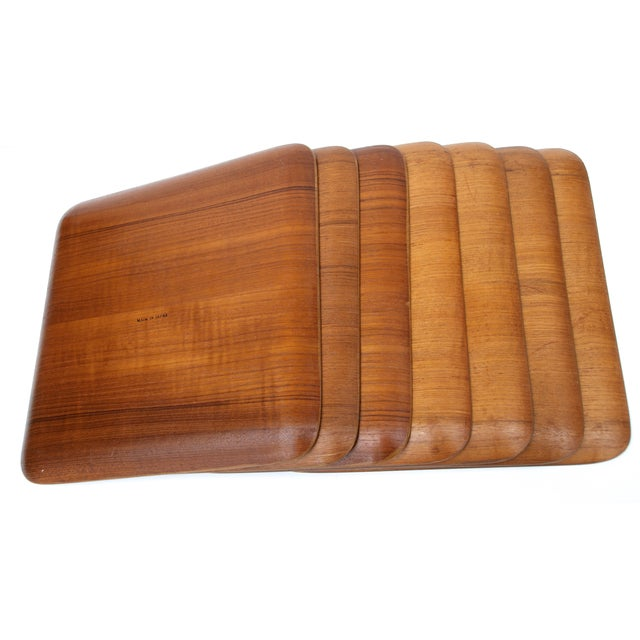 Mid-Century Teak Trays - Set of 7 - Image 5 of 8