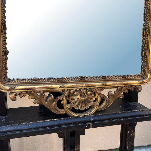 19th Century Italian Carved Giltwood Mirror For Sale In Dallas - Image 6 of 11