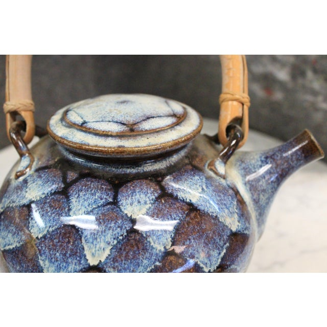 Ceramic Teapot with Wooden Handle For Sale In New York - Image 6 of 8