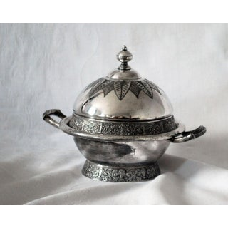 Antique Aesthetic Movement Victorian Silverplate Domed Butter Dish Preview
