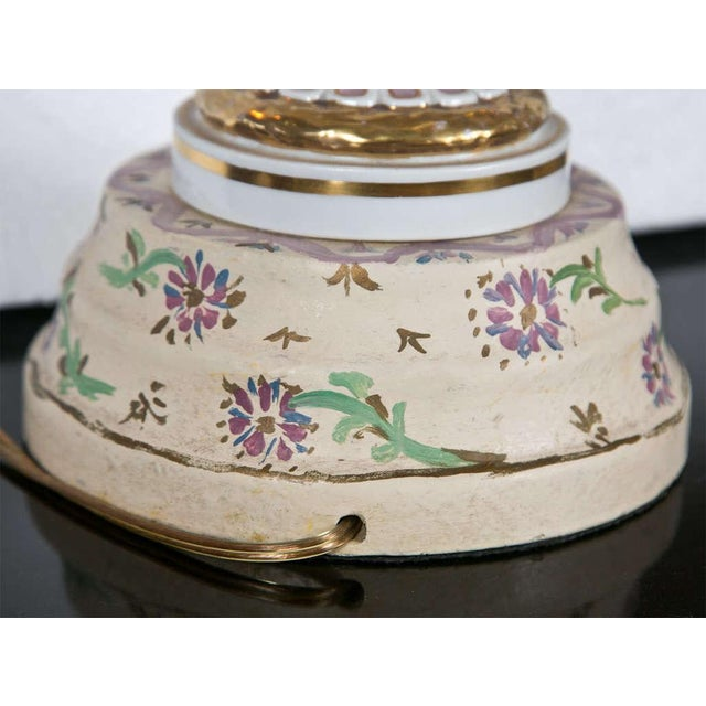 White Porcelain Meissen Style Urn Form Lamps - Pair For Sale - Image 8 of 9