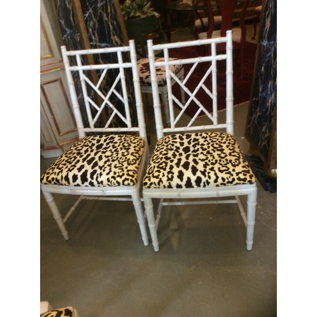 Faux Bamboo Dining Chair - Set of 4 For Sale - Image 11 of 13