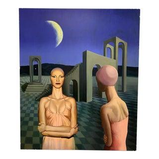 1996 G. Schmidt Surrealist Painting For Sale