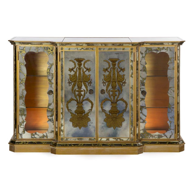 French Art Deco Smoked Mirror Bar Server Console Sideboard, C. 1940s For Sale - Image 13 of 13