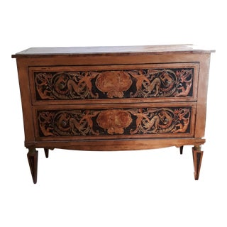 Two Drawer Painted Commode For Sale