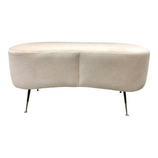 Mid-Century Italian Mohair Bench by Gio Ponti For Sale