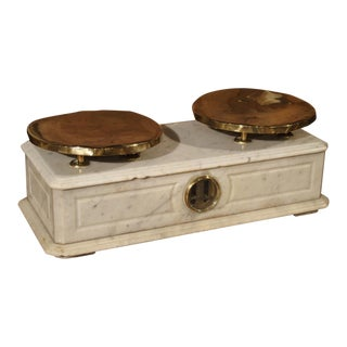 Antique Marble and Brass Paris Boulangerie Scale, Circa 1860 For Sale