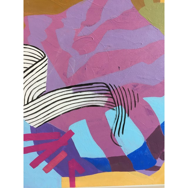 Angela Chrusciaki Blehm Angela Chrusciaki Blehm Lilac Knot Contemporary Painting For Sale - Image 4 of 5