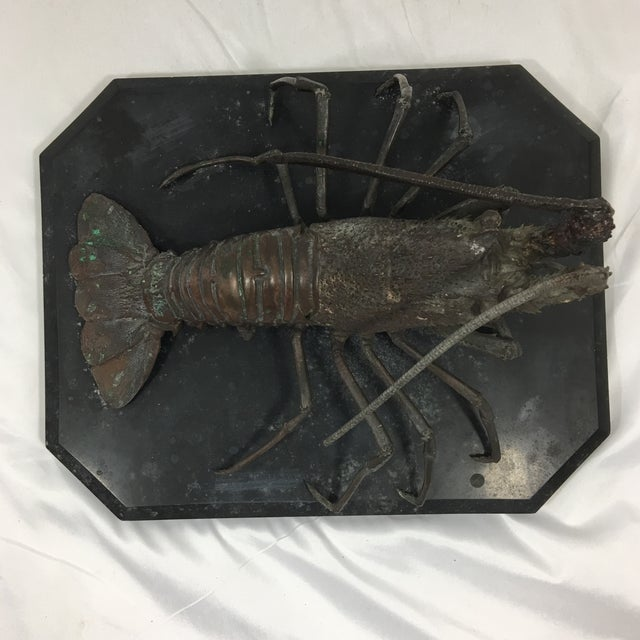 found in a little antiques shop in Toulouse, I stumbled upon this wonderfully detailed cast bronze lobster, snapped it up...