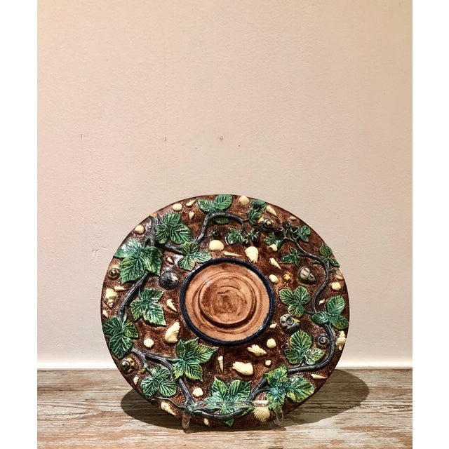 Ceramic Thomas Sergent Palissy Plate, France Circa 1880 For Sale - Image 7 of 7