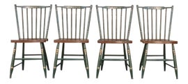 Image of Green Windsor Chairs