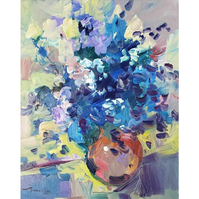 "Jose Trujillo Large Impressionist Flowers Still Life - 16x20"" For Sale"
