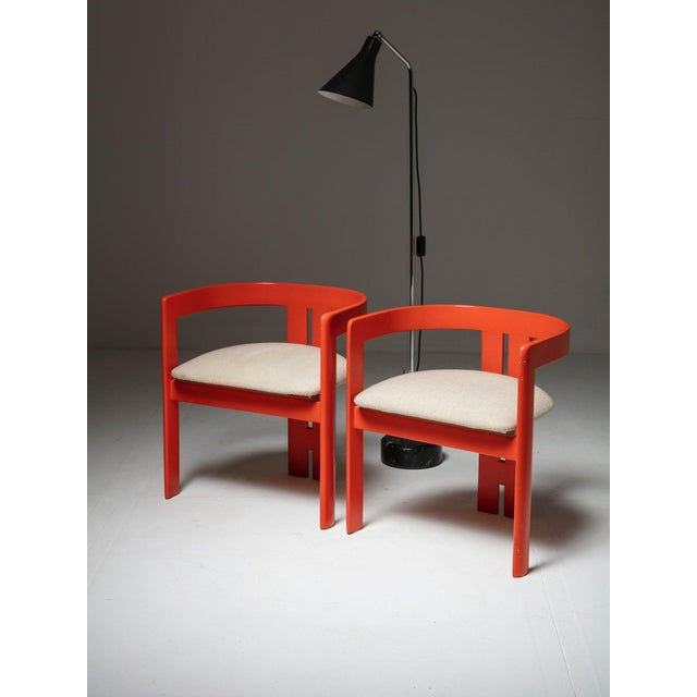 """Set of Two """"Pigreco"""" Chairs by Tobia Scarpa for Gavina For Sale - Image 6 of 7"""
