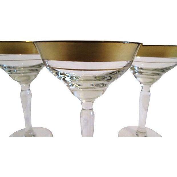 Gold Banded Cocktail Glasses - Set of 4 - Image 4 of 5