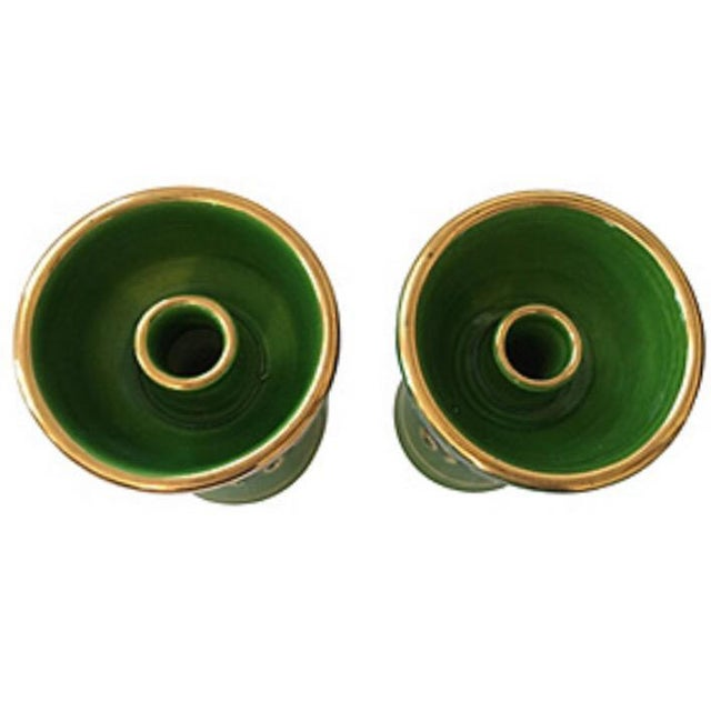 """Pair of Rosenthal Netter Mud Century candle holders in very good condition. Signed """"Italy"""" with """"Rosenthal-Netter"""" paper..."""