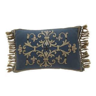 Antique French Embroidered Aubusson Lumbar Pillow For Sale