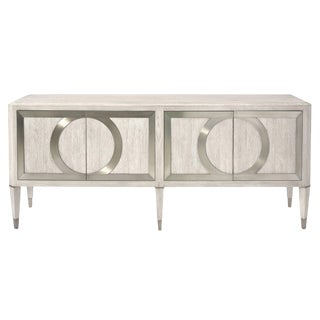 Bernhardt Domaine Blanc Silver Entertainment Console Sideboard For Sale