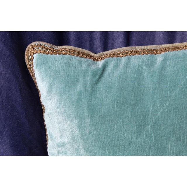 Late 20th Century Late 20th C. Possible Silk Velvet Chair Cushion For Sale - Image 5 of 6