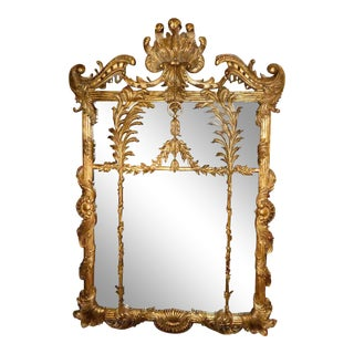 LaBarge Carved Gilt Wood Rococo Mirror For Sale