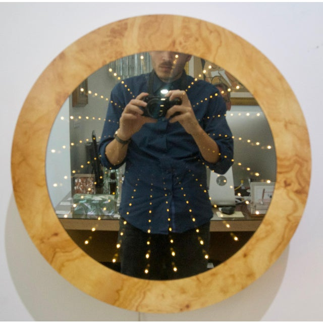 Mid-Century Infinity Lights Wall Mirror For Sale - Image 4 of 11
