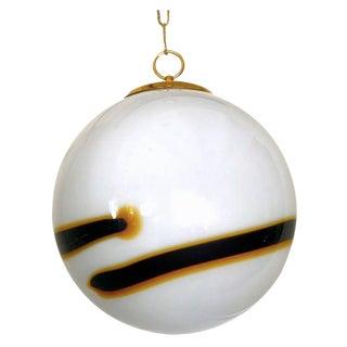 Vistosi Murano Pendant Glass Globe Handblown 30 CM , 1960