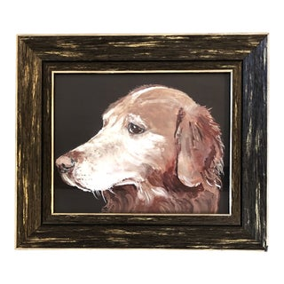 Golden Retriever Dog Print by Judy Henn For Sale