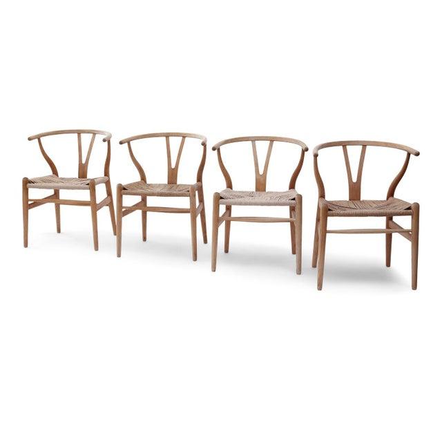 Danish Modern Wishbone Armchairs by Hans Wegner For Sale - Image 3 of 13