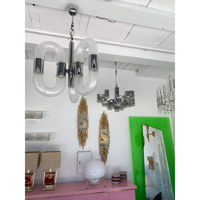Silver Chandelier Cubic by Sciolari, Italy, 1970s For Sale - Image 8 of 11