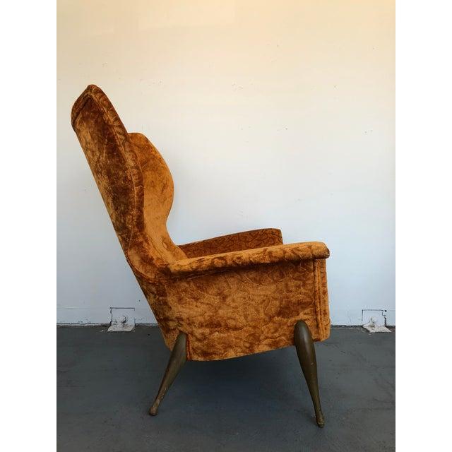Orange 1970s Vintage Ben Seibel Wingback Lounge Chair For Sale - Image 8 of 9