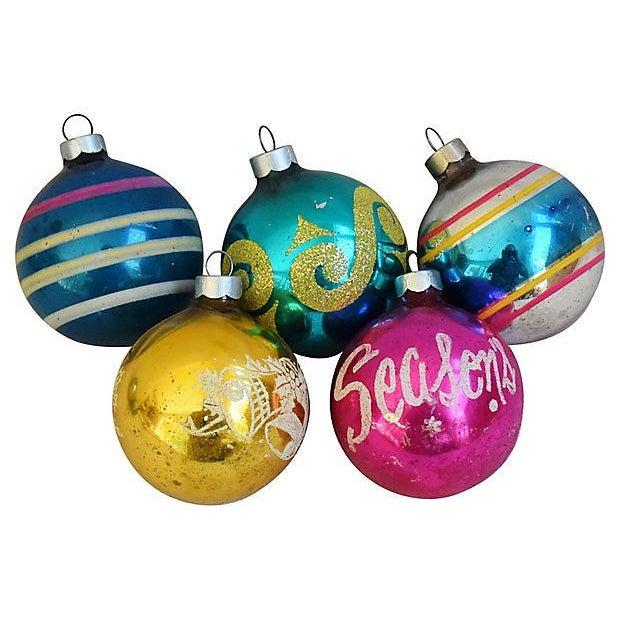 1960s Christmas Tree Ornaments w/Box - Set of 12 - Image 5 of 6
