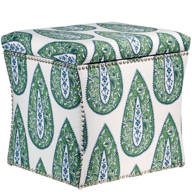 Bindi Kelly Cotton Storage Ottoman For Sale